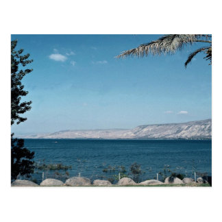 View of Sea of Galilee from south shore, Israel Postcards