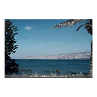 View of Sea of Galilee from south shore, Israel Poster