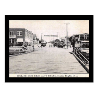 View of Seaside Heights, New Jersey Vintage Postcard