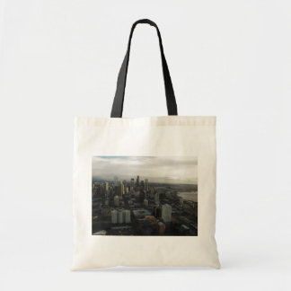 View Of Seattle City From Top Of Space Needle Tote Bag