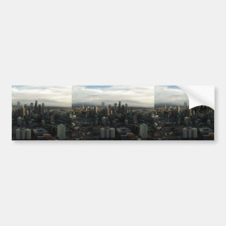 View Of Seattle City From Top Of Space Needle Car Bumper Sticker
