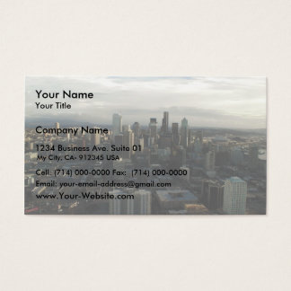 View Of Seattle City From Top Of Space Needle Business Card