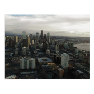 View Of Seattle City From Top Of Space Needle Postcard