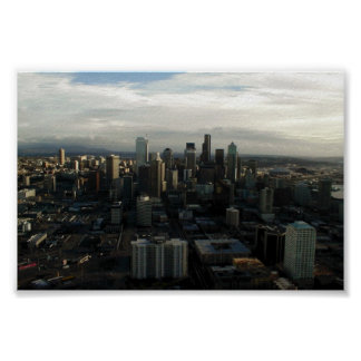 View Of Seattle City From Top Of Space Needle Print