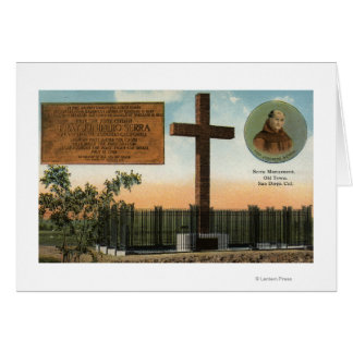 View of Serra Monument, Old Town San Diego Card