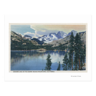 View of Shadow Lake, Sierra Nevada Mountains Post Card