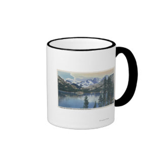View of Shadow Lake, Sierra Nevada Mountains Ringer Mug