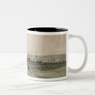 View of Sheerness (w/c over graphite on paper) Two-Tone Coffee Mug