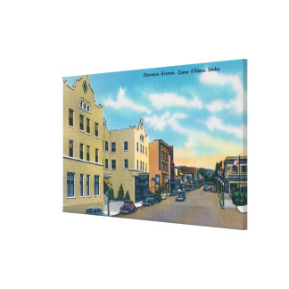 View of Sherman AvenueCoeur d'Alene, ID Canvas Print
