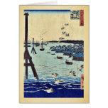 View of Shiba Coast by Ando, Hiroshige Ukiyoe Cards