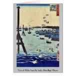 View of Shiba Coast by Ando, Hiroshige Ukiyoe Greeting Card