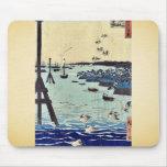 View of Shiba Coast by Ando, Hiroshige Ukiyoe Mousepads
