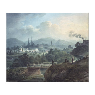 View of Shrewsbury across the Severn Canvas Print