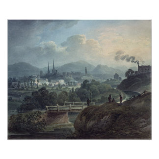 View of Shrewsbury across the Severn Poster