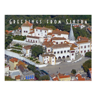 View of Sintra in Portugal postcard