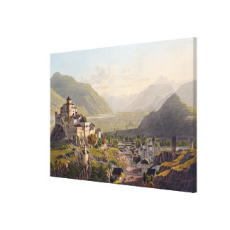 View of Sion, illustration from 'Voyage Pittoresqu Canvas Print
