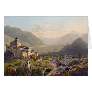 View of Sion, illustration from 'Voyage Pittoresqu Card