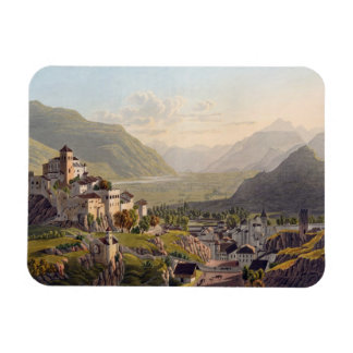 View of Sion, illustration from 'Voyage Pittoresqu Magnet