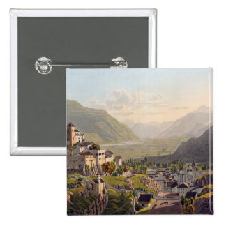 View of Sion, illustration from 'Voyage Pittoresqu Pinback Button