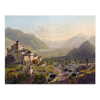 View of Sion, illustration from 'Voyage Pittoresqu Postcard