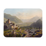 View of Sion, illustration from 'Voyage Pittoresqu Rectangular Magnets