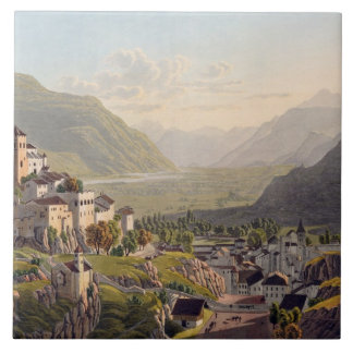 View of Sion, illustration from 'Voyage Pittoresqu Tile