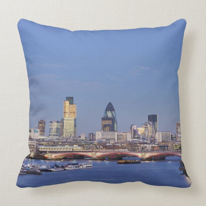 View of Skyline Throw Pillow
