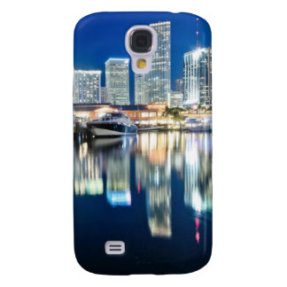 View of skyline with reflection in water, Miami Samsung Galaxy S4 Covers