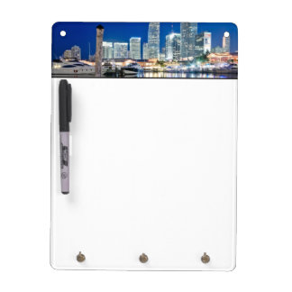 View of skyline with reflection in water, Miami Dry-Erase Board