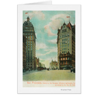 View of Skyscrapers that Survived 1906 Card