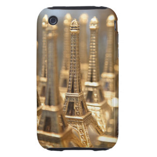 view of small eiffel towers for sale to tourists tough iPhone 3 case