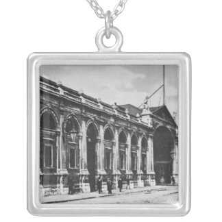 View of Smithfield Meat Market, c.1905 Silver Plated Necklace
