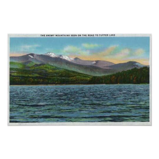 View of Snowy Mts from the Tupper Lake Road Poster