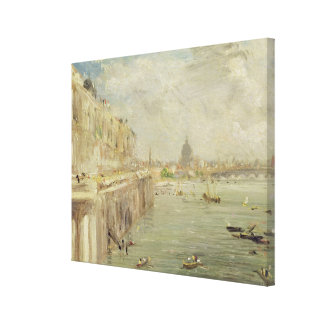 View of Somerset House Terrace and St. Paul's, fro Canvas Print