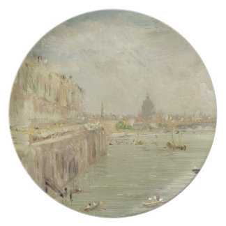 View of Somerset House Terrace and St. Paul's, fro Melamine Plate