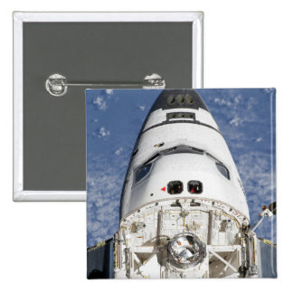 View of space shuttle Endeavour's crew cabin Pinback Button