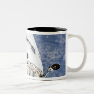 View of space shuttle Endeavour's crew cabin Two-Tone Coffee Mug
