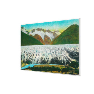 View of Spencer Glacier, Near Seward, Alaska Canvas Print