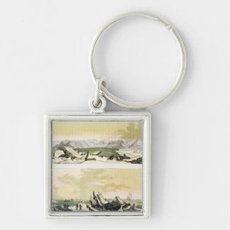 View of Spitsbergen with 'The Dorothea' (colour en Keychain