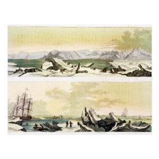 View of Spitsbergen with 'The Dorothea' (colour en Postcard