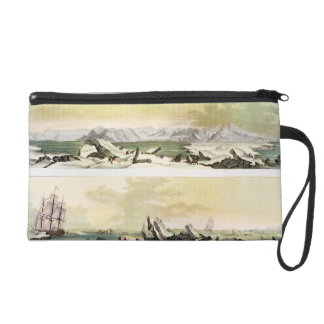 View of Spitsbergen with 'The Dorothea' (colour en Wristlet