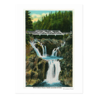 View of Split Rock Falls and Bridge Postcard