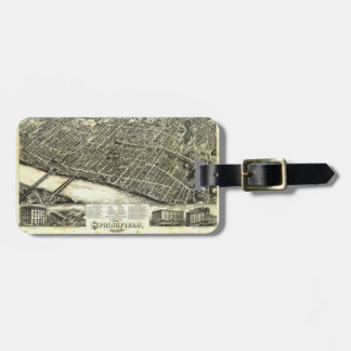 View of Springfield Massachusetts (1875) Bag Tag