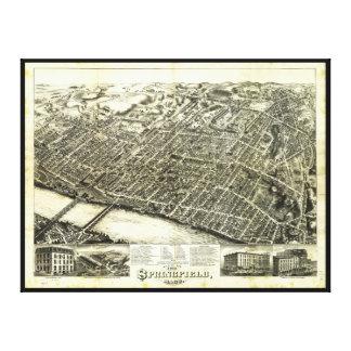 View of Springfield Massachusetts (1875) Canvas Print
