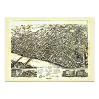 View of Springfield Massachusetts (1875) Card