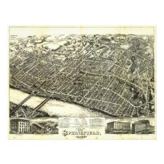 View of Springfield Massachusetts (1875) Letterhead