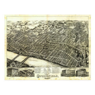 View of Springfield Massachusetts (1875) Postcard