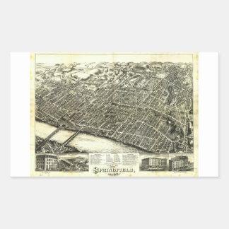 View of Springfield Massachusetts (1875) Rectangular Sticker
