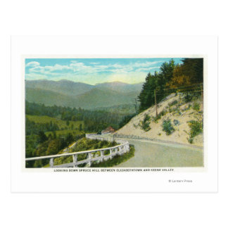 View of Spruce Hill before Keene Valley Postcard