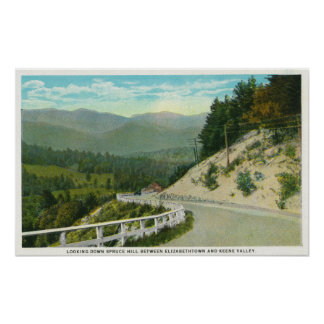 View of Spruce Hill before Keene Valley Poster